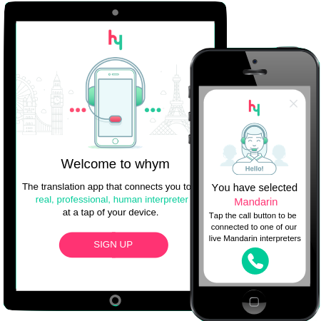whym translation for travel. The language app for Android and iOS